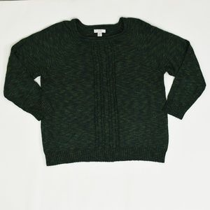 C J Banks Plus 2X Green   Sweater Acrylic Solid